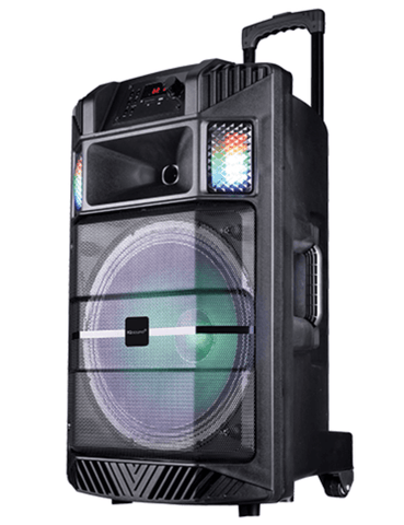"IQ Sound 5215 - 15"" Portable DJ Speaker with Light Effects"