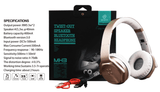 SODO MH2 Headphones 2 in 1 On-ear Headphones and Twist Out Speakers product description and box