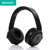 SODO MH2 Headphones 2 in 1 On-ear Headphones and Twist Out Speakers black