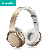 SODO MH2 Headphones 2 in 1 On-ear Headphones and Twist Out Speakers Gold