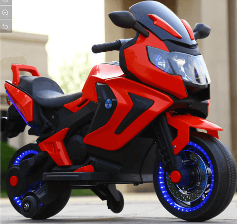 12V ELECTRIC KIDS RIDE-ON MOTORCYCLE - Red