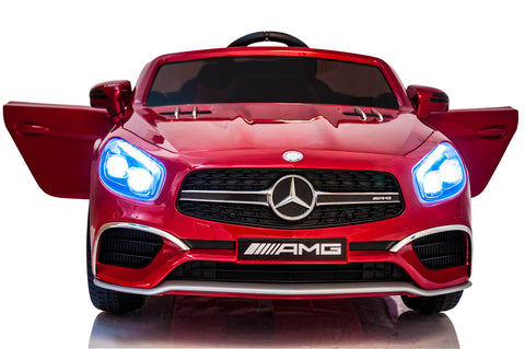 12V Mercedes AMG SL65 Ride on Power Electric Car For Kids Wheel with Remote Control Opening doors MP3 LED lights MP4 Touch Screen Tablet - Red front