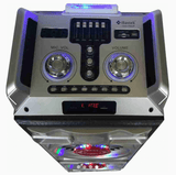 Bluetooth Party Speaker LED Loud Audio two speakers tweeters top