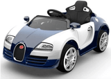 12V Bugatti Veyron Style Kids Ride-On Car With Parental Remote - Blue front