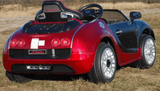 12V Bugatti Veyron Style Kids Ride-On Car With Parental Remote - Red backlive