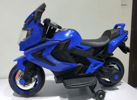 12V ELECTRIC KIDS RIDE-ON MOTORCYCLE - Blue