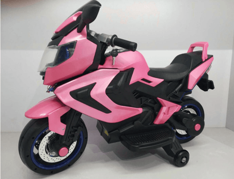 12V ELECTRIC KIDS RIDE-ON MOTORCYCLE - Pink