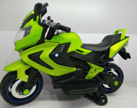 12V ELECTRIC KIDS RIDE-ON MOTORCYCLE - Green