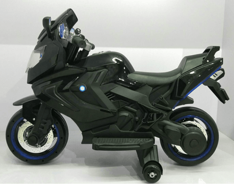 12V ELECTRIC KIDS RIDE-ON MOTORCYCLE - Black