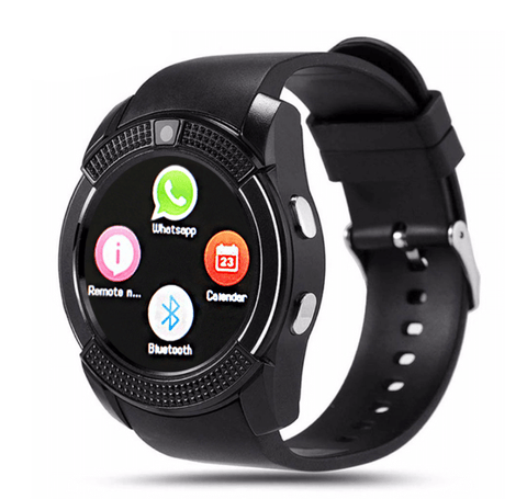 V8 Bluetooth Smartwatch Round Screen Support SIM Card Camera SmartWatch for Samsung Huawei Android Smartphone