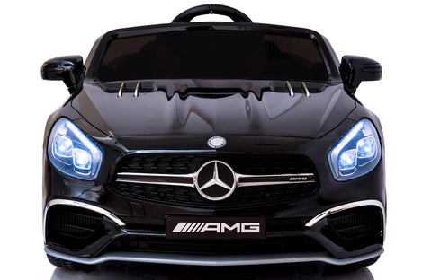 12V Mercedes AMG SL65 Ride on Power Electric Car For Kids Wheel with Remote Control Opening doors MP3 LED lights MP4 Screen - Black front