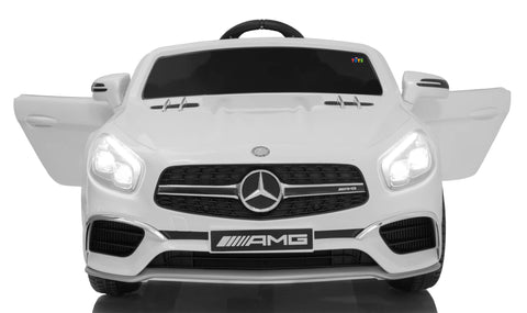 Licensed 12V Mercedes SL65 AMG Kids Ride-On Car With Parental Remote - White