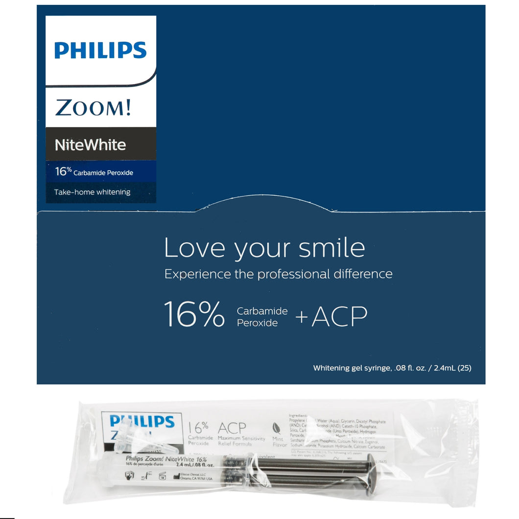 Philips Zoom Nite White 16% (Bulk 25 Syringe Reseller Pack) *GREAT VALUE*