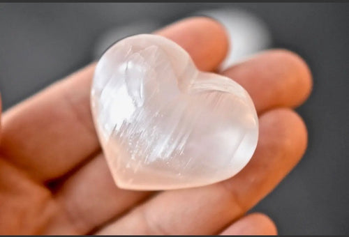 Open Heart Apothecary - Small Selenite Heart Crystals