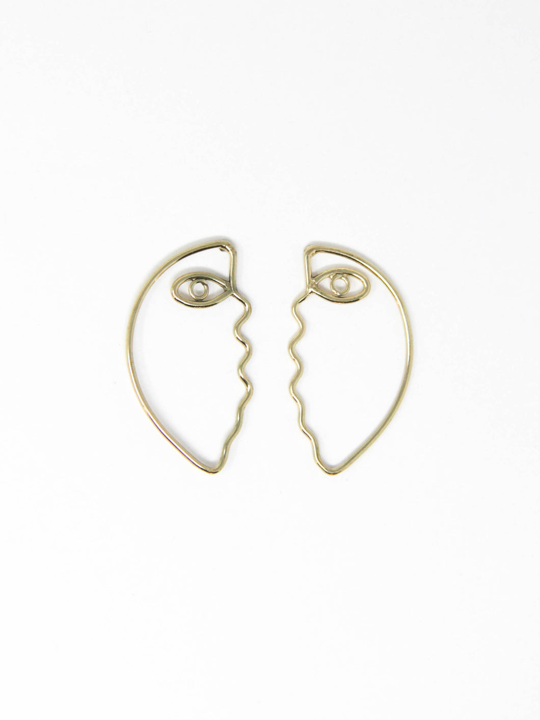Abstract Face Post Earrings - Rover and Kin