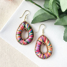Load image into Gallery viewer, WorldFinds Candied Pillow Teardrop Earrings - Handmade Fair Trade