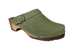 Lotta from Stockholm Classic Clogs with Strap - Green