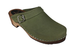Classic Clogs with Strap - Green