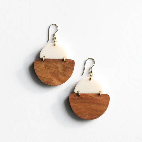 Fair Trade Mod Wood and Resin Earrings