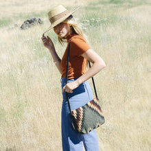 Load image into Gallery viewer, Lightening + Pine Handwoven Wool Crossbody Bag - Fair Trade