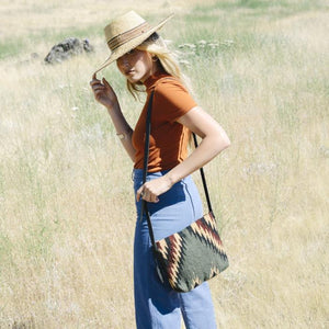 Lightening + Pine Handwoven Wool Crossbody Bag - Fair Trade