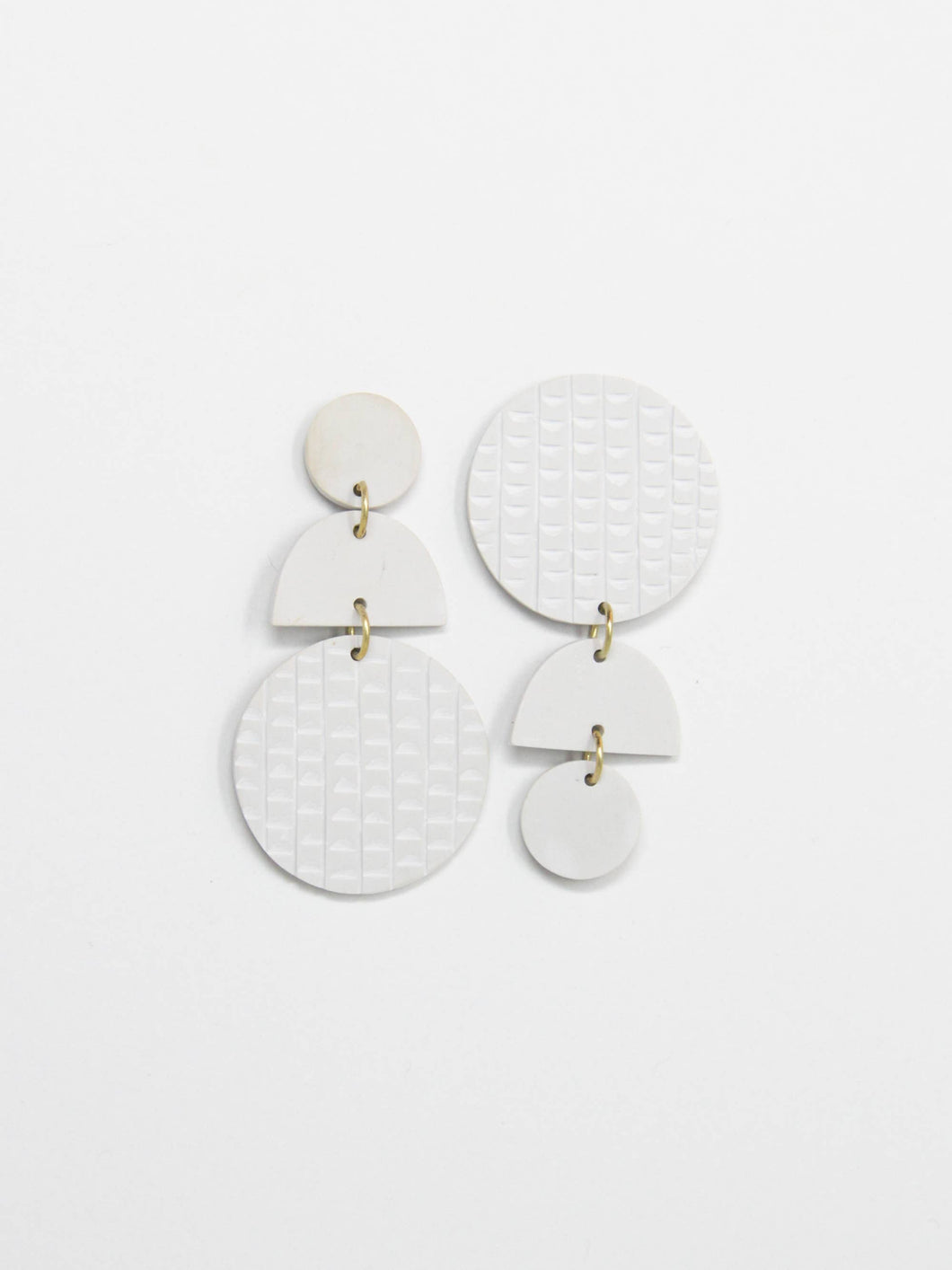 Rover and Kin Swicheroo Clay Earrings - Bone White
