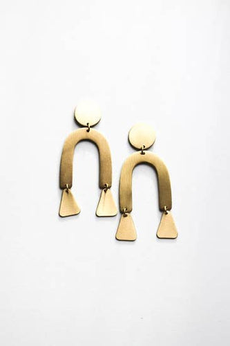 Fair Trade Brass Modern Shapes Earrings