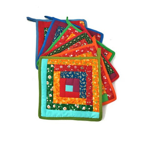 Cotton Quilt Potholder - Square