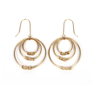 Triple Hoop Earrings - WorldFinds + Just Trade