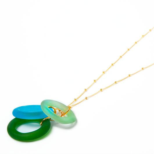 Sea Glass Chandelier Necklace