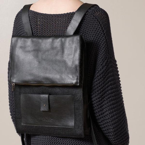 Felt + Leather Backpack