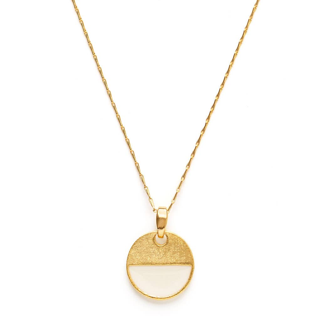 Amano Studio Color Horizon Necklace - Minimalist Simple Gold Necklace