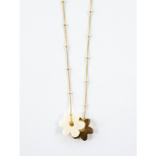 Layered Flower Necklace - Mata Traders
