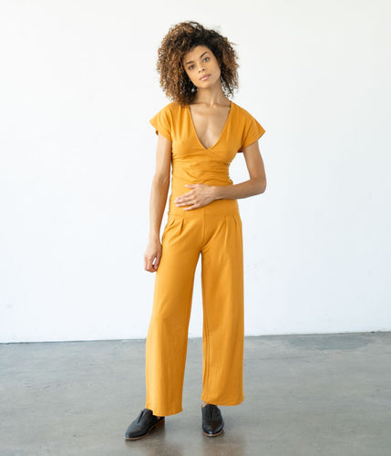 Onyx Cropped Pant - Mustard