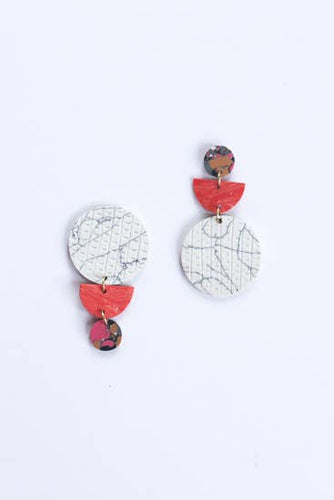 Swicheroo Clay Earrings - Peach