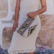 Load image into Gallery viewer, Mitla Pastel Handwoven Wool Clutch - Fair Trade