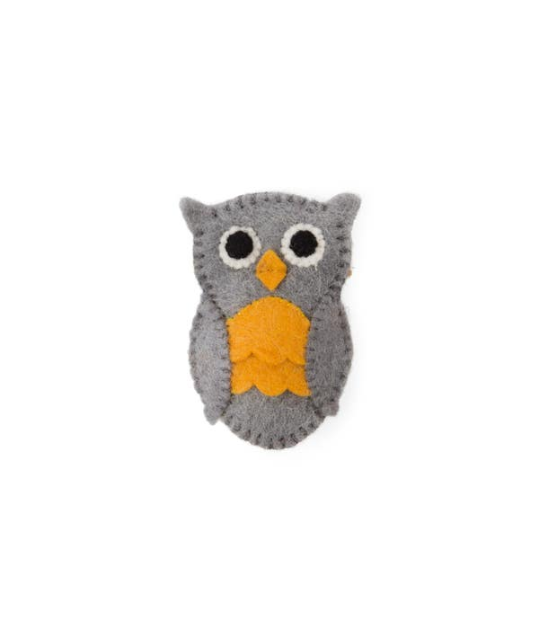 Felted Finger Puppet Owl - Ten Thousand Villages