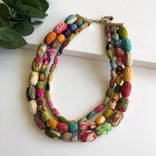 Load image into Gallery viewer, Kantha Talia Necklace - WorldFinds