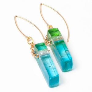 Mosaic Stiletto Gold Earrings