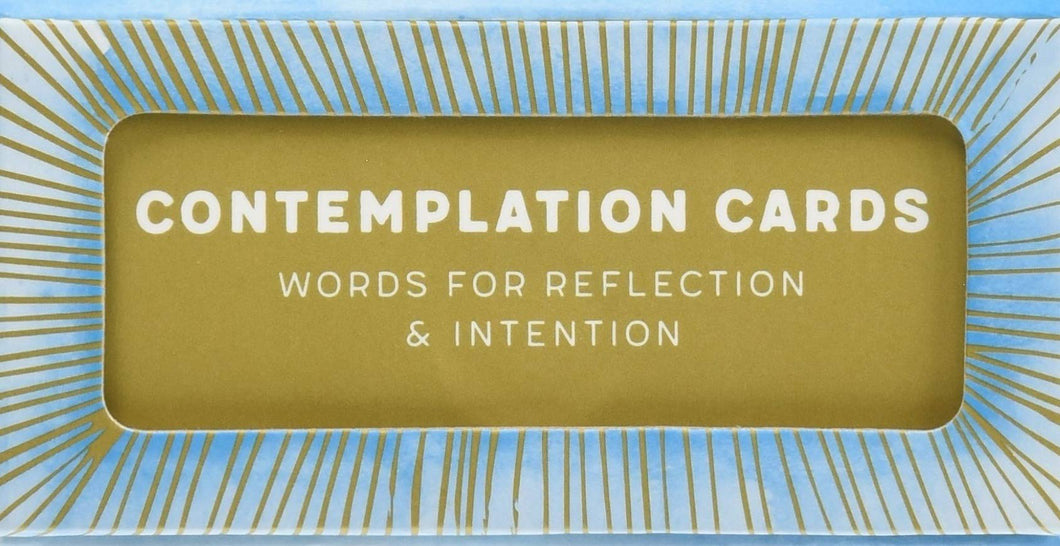 Contemplation Cards: Words for Reflection & Intention - Affirmation Cards