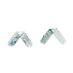 Axis Post Earrings - Silver