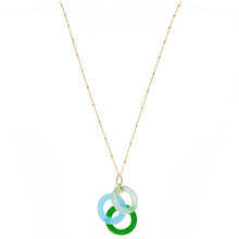 Load image into Gallery viewer, Sea Glass Chandelier Necklace