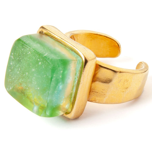 Mosaic Cube Ring - Gold
