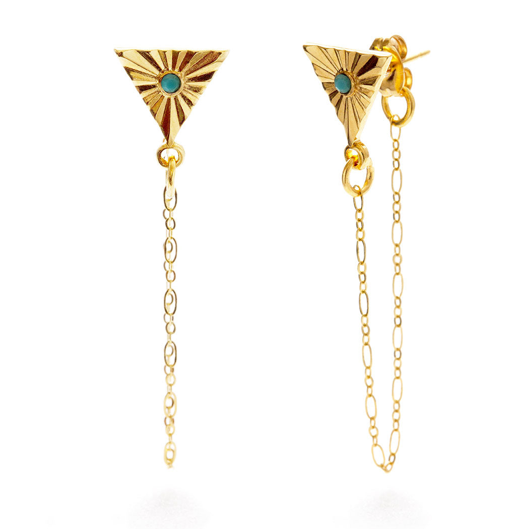 Amano Studio Turquoise Altair Stud Earrings