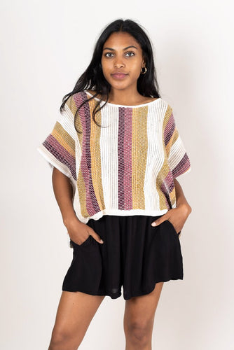Srey Crop Top - Striped Desert