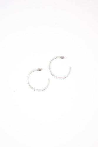 Essential Silver Hoops