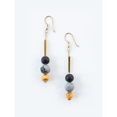 Stacked Clay Beaded Earrings - Mata Traders