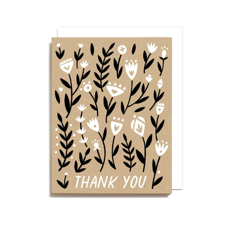 Card - Thank You Floral Pattern