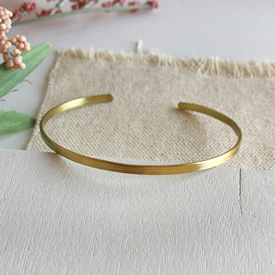 Worldfinds Minimalist Simple Band Cuff Bracelet - Gold