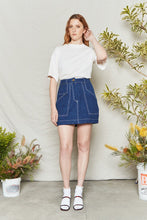 Load image into Gallery viewer, Back Beat Co. Hemp Utility Skirt in Denim